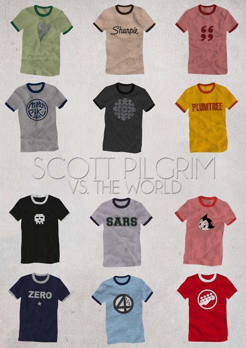 """Scott Pilgrim vs. The World"" by Yzabelle Wuthrich. http://minimalmovieposters.tumblr.com/tagged/Scott-Pilgrim"