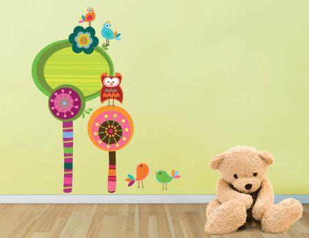 Τι καλύτερο από ένα παιδικό δωμάτιο γεμάτο ζωή και χρώμα! #WallStickers από την #HouseArt
