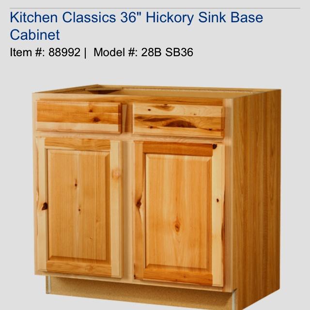Kitchen Classics Denver X X Hickory Sink Base Cabinet