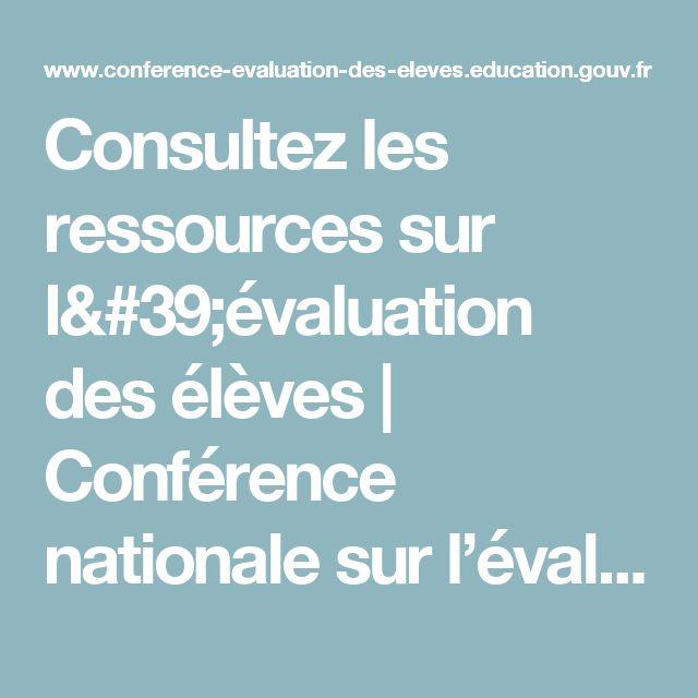 Consultez les ressources sur l'évaluation des élèves | Conférence nationale  sur l'évaluation des élèves