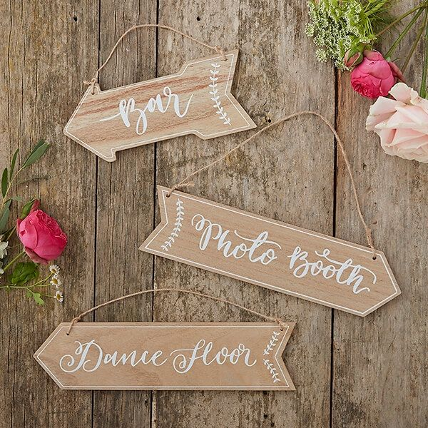 Wegweiser für Hochzeit Vintage