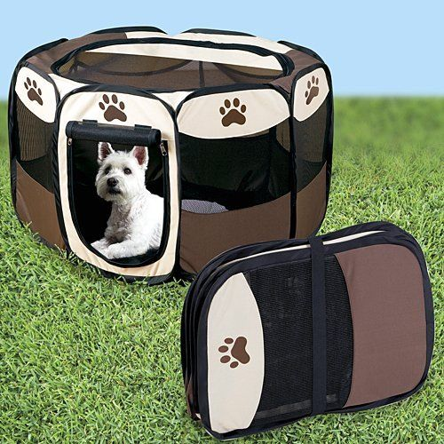 Portable Doggie Play Pen, Small Size *** More info could be found at the image url.