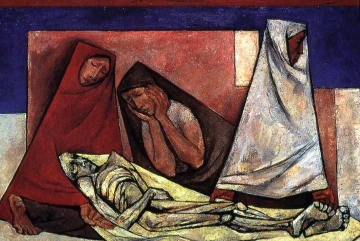 Fusilamiento (Execution by Firing Squad), Oswaldo Guayasamín (Ecuadorian, 1919–1999), 1943. #Art #Lent #HolyWeek #PassionWeek #Jesus #Easter #HeIsRisen #Resurrection Sunday