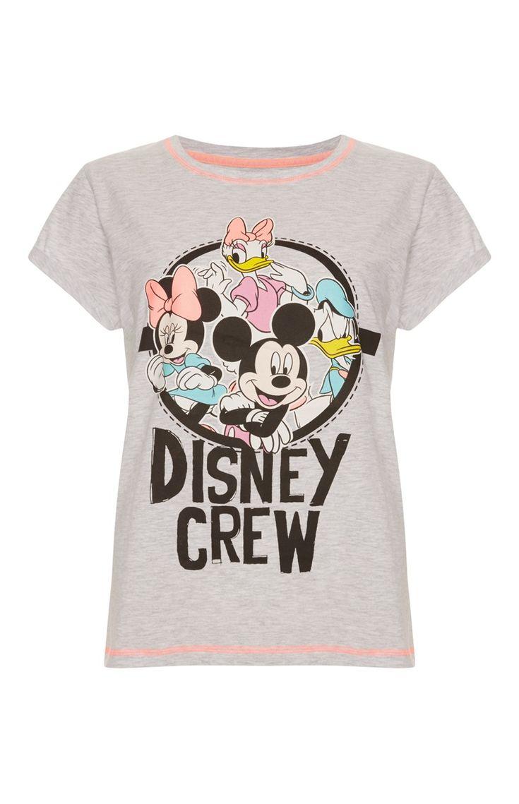Primark - Grijs T-shirt Disney Crew