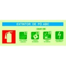 Placa de sinalização Agente Extintor