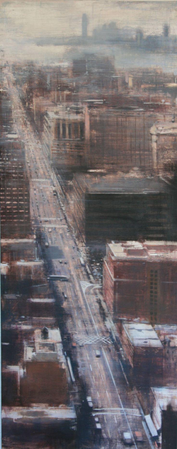 Aerial street (New York).150x60 cms