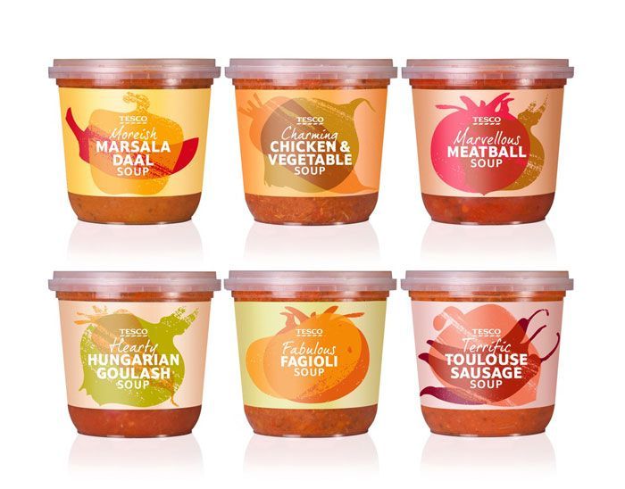 Tesco MealSoups - The Dieline - The #1 Package Design Website -