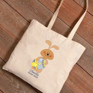 74 best easter gifts and spring gift ideas images on pinterest personalized easter bunnies canvas tote bag negle Gallery