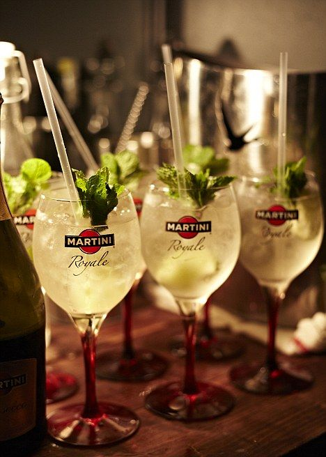 Martini Royale: Prosecco is given a real lift with the addition of Martini Bianco and ice - giving drink a refreshing hint of botanicals