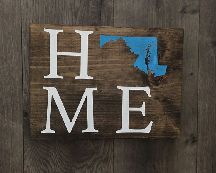 12 Best Handmade Wood Signs By Therucrew Images On Pinterest Rhpinterest: Maryland Home Decor At Home Improvement Advice