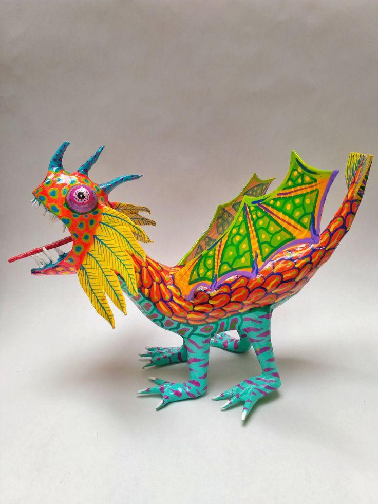 Quiero compartir lo último que he añadido a mi tienda de #etsy: Alebrije Dragon Cartonería Mexicana] Paper Mache Alebrije] Mexican Folk Art http://etsy.me/2C5gm1t