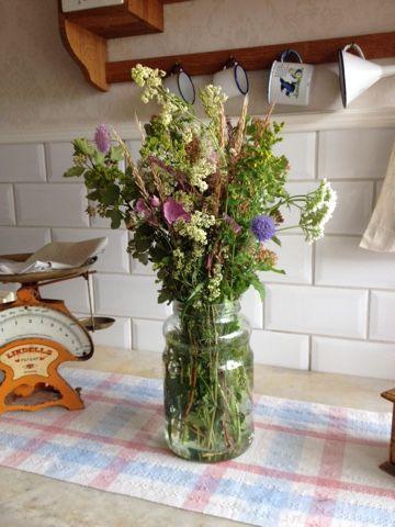 Blommor i fönstret: Blommor och blad