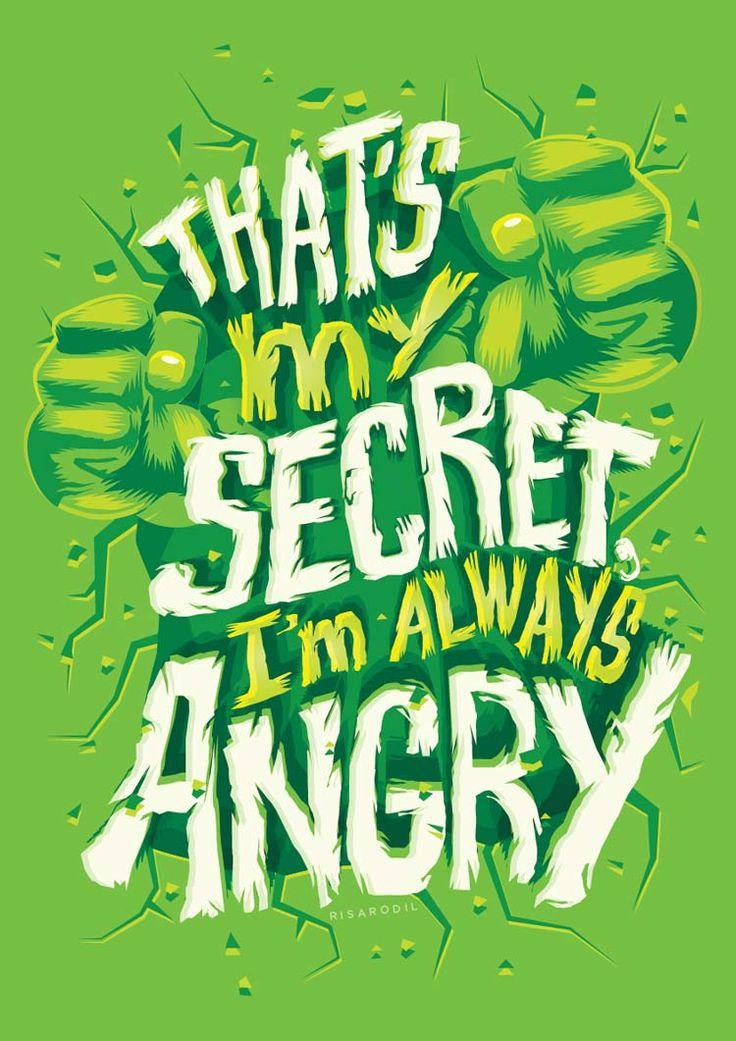 Des affiches de héros Marvel réalisées en lettering