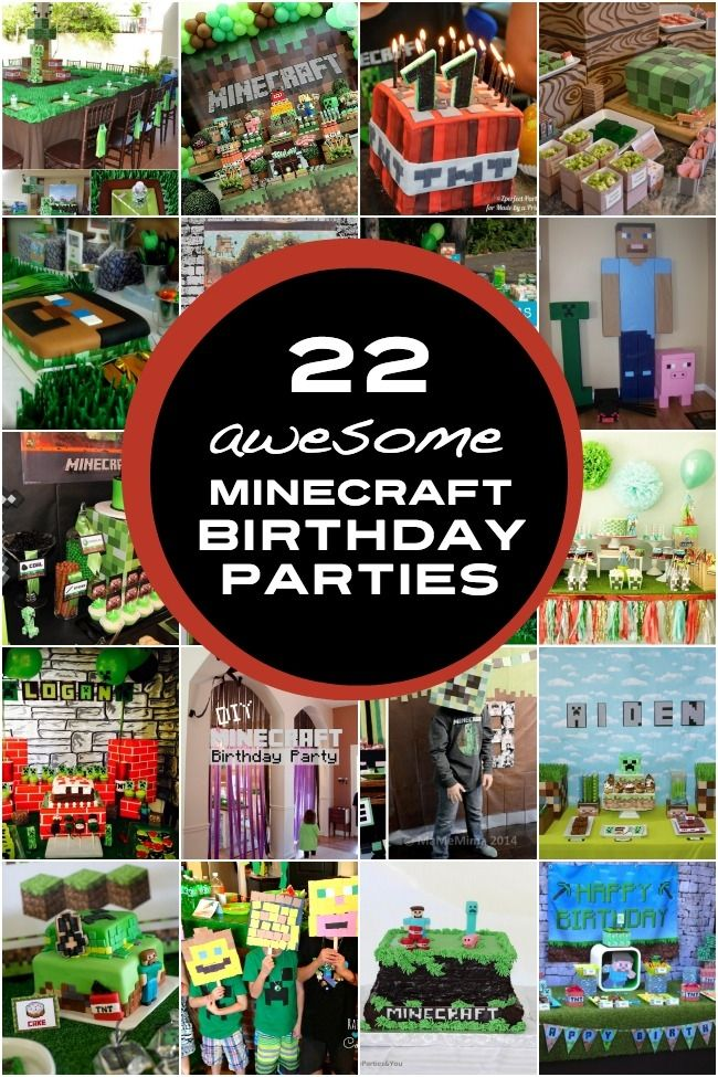 Tons of Unique Minecraft Birthday Party Ideas for Boys from Spaceships and Laser Beams- Boy Birthday Party Ideas