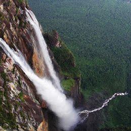 Водопад Анхель, Национальный парк Канайма, Венесуэла Анхель – самый высокий водопад в мире, общая высота 979 метров (по другим данным 1054 метра), высота непрерывного свободного падения 807 метров. Назван в честь лётчика Джеймса Эйнджела, который пролетел над водопадом в 1933 году  #водопад #гора #горы #природа #Вевенесуэла #путешествие #отпуск #отдых