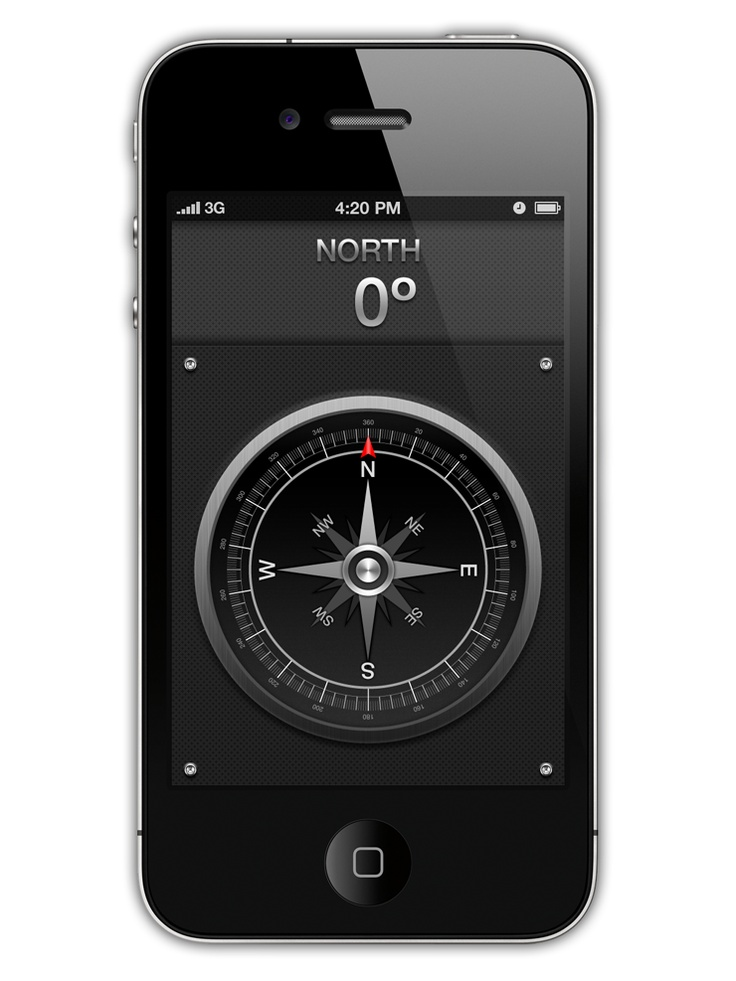 Compass App GUI concept Design for iPhone