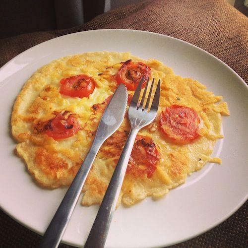 Tomato cheese pancake easy quick recipe