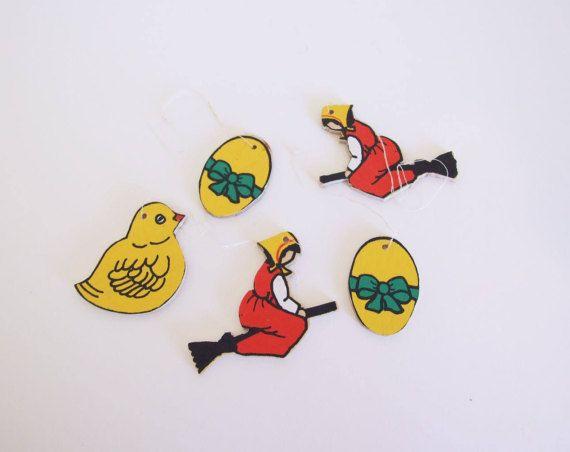 Swedish Vintage Easter Ornaments // Five Easter por tiendanordica