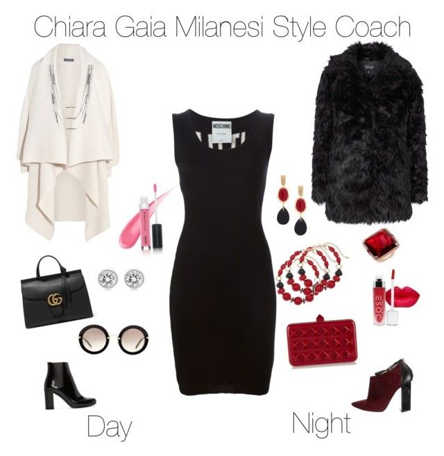 """""""From day at work at night out"""" by chiaragaia on Polyvore featuring Moschino, Yves Saint Laurent, Alexander McQueen, Jimmy Choo, Gucci, Valentino, Miu Miu, Michael Kors, Topshop and Chico's"""
