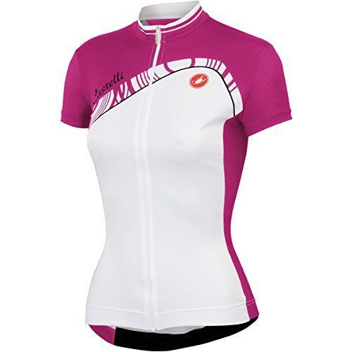 1cd87d6a0 Castelli Tesoro Full-Zip Jersey - Short Sleeve - Women s White Fucsia