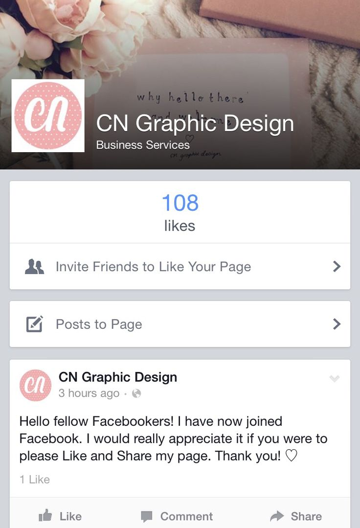 "Would love you to like and share my facebook page! search ""CN Graphic Design"""