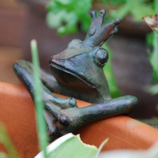 Frog Prince Garden Pot Hugger Ornament, Gardens2you.co.uk