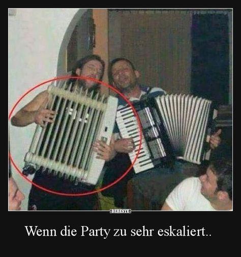 Wenn die Party zu sehr eskaliert.. | Lustige Bilder, Sprüche, Witze, echt lustig