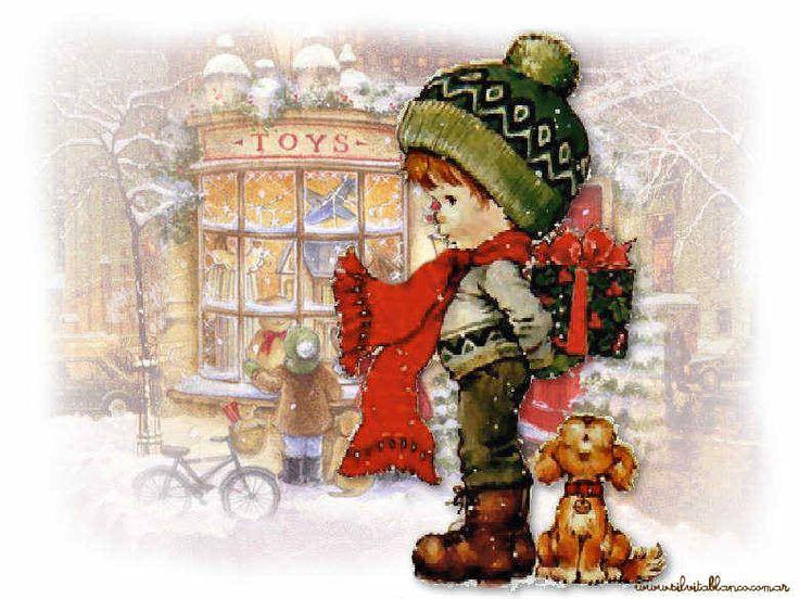 Sarah Kay | Navidad | Imágenes Tamano Grande | Tarjetas párr | colección de arte Art Illustration
