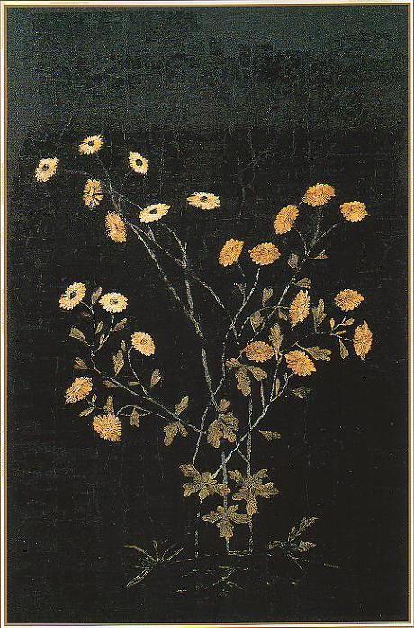 (Korea) Embroidery Folding screens by Shin Saimdang (1504- 1551). Donga University Museum. Treasures No.595.