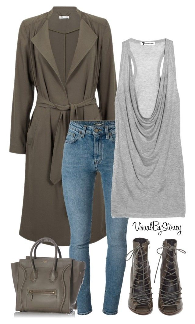 """""""Untitled #830"""" by fashionaffiliated ❤ liked on Polyvore featuring Yves Saint Laurent, T By Alexander Wang, Rebecca Minkoff and CÉLINE"""