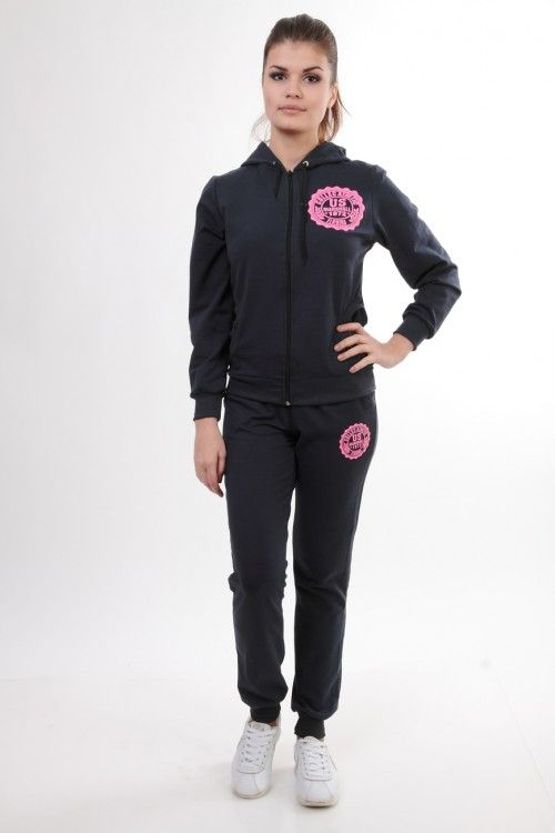 Спортивный костюм темно-серый 3679 Размеры: 44 Цена: 630 руб.  http://optom24.ru/sportivnyy-kostyum-temno-seryy-3679/