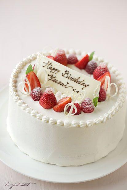 お誕生日シフォンケーキの画像:Lovely-Jubblyな日々