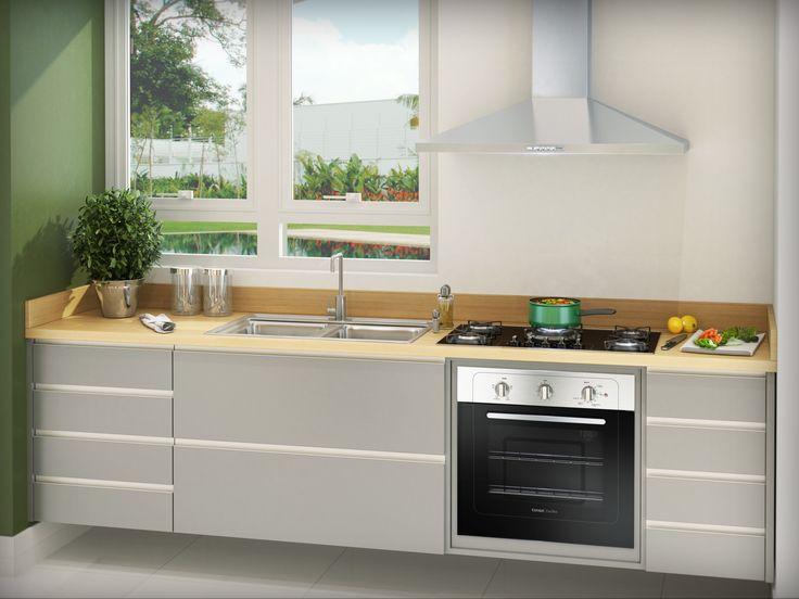 Mais uma opção moderna para sua cozinha. Linha especial da Consul com forno de embutir, cooktop e coifa. ;)