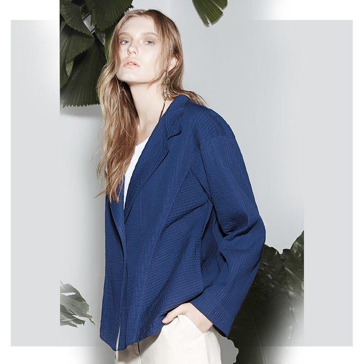 Yacco Maricard Off-centered Cotton Pintuck Jacket