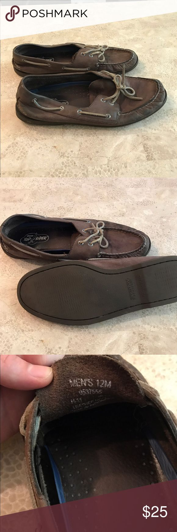 Sperry Topsiders Men's Shoes Sperry Topsiders Men's Brown Shoes Size 12 Sperry Top-Sider Shoes Boat Shoes