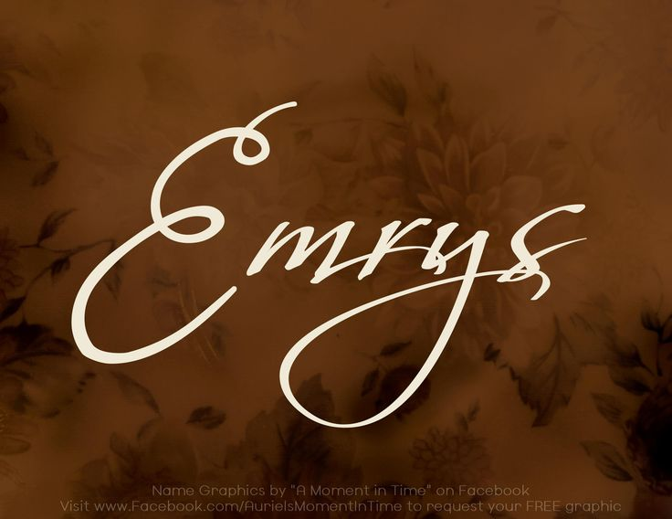 Emrys: Welsh, Immortal.  The druid name of Merlin in the BBC series Em-riss in Welsh but would probably be pronounced Em-rees in USA,  NN Rhys/Reece #BabyNames