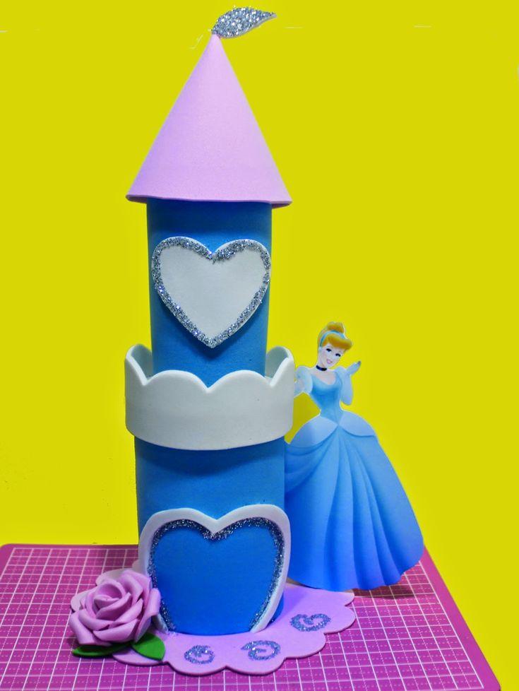 Segredos de Aline: Artesanato EVA - Como Fazer Lembrancinha Princesa Cinderela