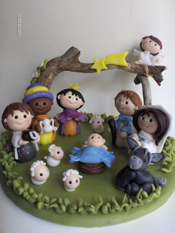 children's version of the nativity...in clay...adorable donkey