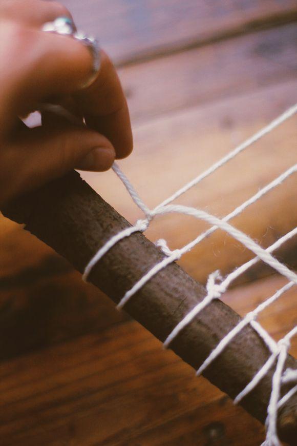 DIY Branch Weaving   Free People Blog #freepeople