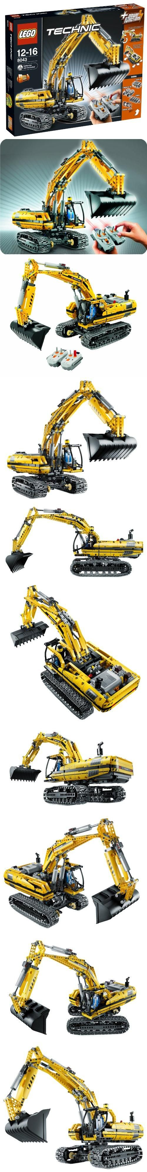 LEGO Technic 8043 - Motorized Excavator Power Functions, Real Lego shovel model car, #Toys, #Building Sets