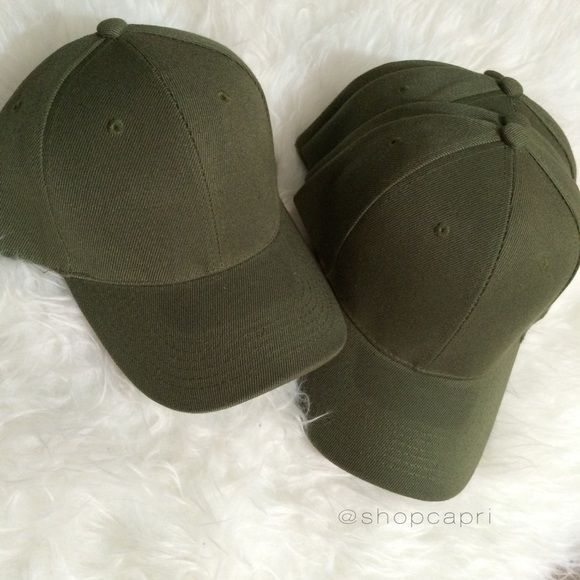 ✨last one! olive celeb style acrylic cap✨ One new                                                                       Custom made/color Color: Olive Premium quality  100% acrylic  Celebrity style As seen on Kylie Jenner Great for fall/winter styles  ❎ Price firm ❎ No trades shopcapri Accessories Hats
