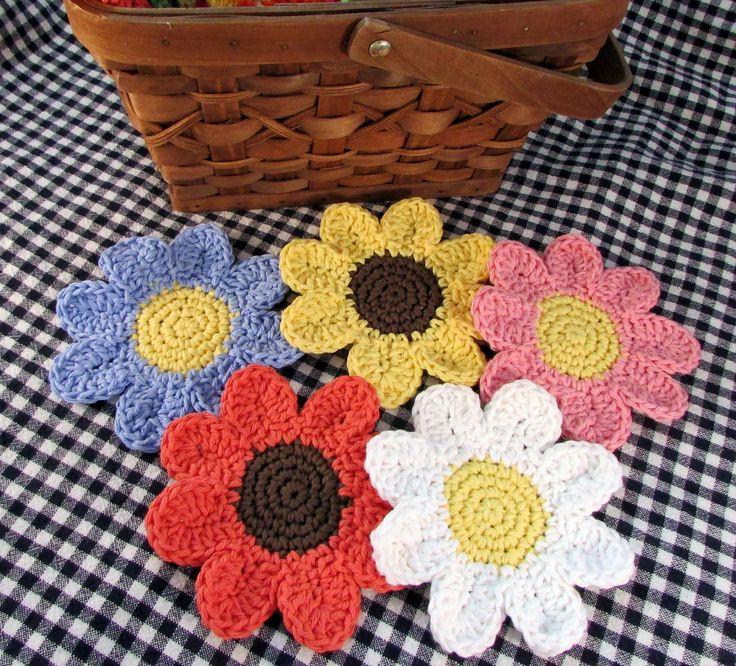 Contemporáneo Patrón Coaster Crochet Festooning - Manta de Tejer ...