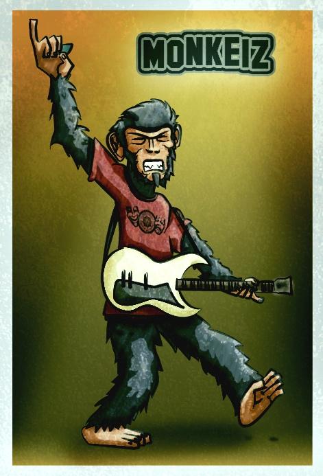 Monkeir Party Rock-Illustration For Art'fx ( Drawing/Illustrator/Photoshop)