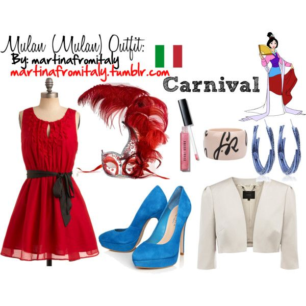 Mulan (Mulan) Carnival Outfit, created by martinafromitaly on Polyvore