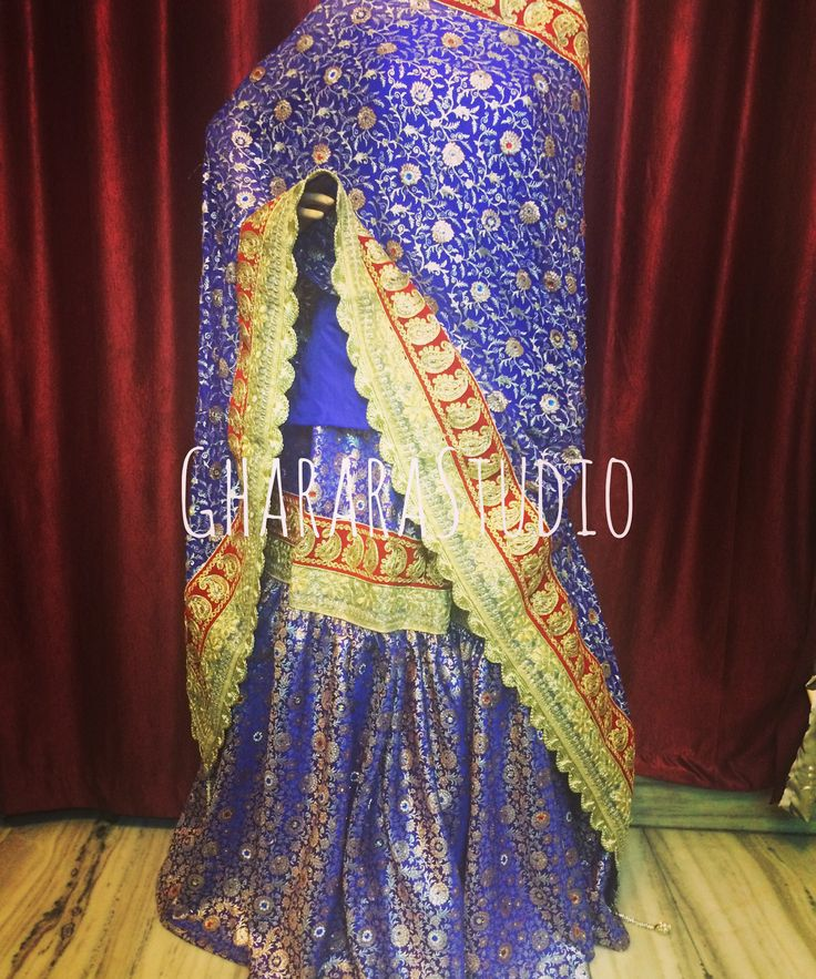 Royal blue Gharara with beautiful red & golden lace.  ORDER ONLINE. DELIVER WORLDWIDE. COMPLETE STITCHED.  #gharara #ghararastudio #ghararastudiobyshazia #ghararastyle #ghararaonline #ghararadesigner #royalblue #wedding #weddingday #weddinggharara #bride #bridal #nikah #marriage #indiantradition #muslimbride #muslimwedding #fashion #fashionable #fashionblog #fashiongirl #fashiongram #fashionblogger #fashionshow #fashionweek #fashionable #fashionaddict #instapic #instastyle #instafashion…
