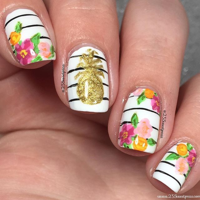 Best 25 crazy nail art ideas on pinterest nail art fun nails ocean inspired nail art also could work as pool water perfect for summer prinsesfo Choice Image