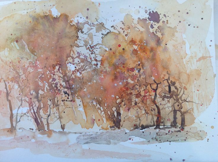 Abstract trees-Penny Steynor-watercolour