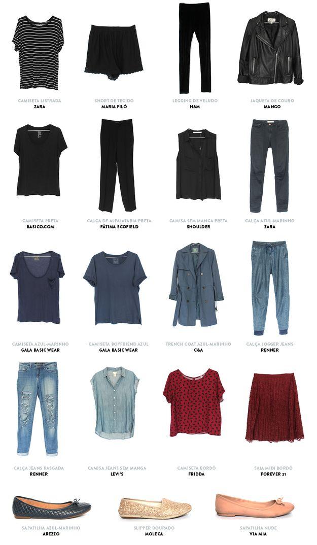 Uma dica legal é criar um catálogo com as roupas do seu armário-cápsula. | O armário-cápsula é a solução para economizar e se vestir melhor