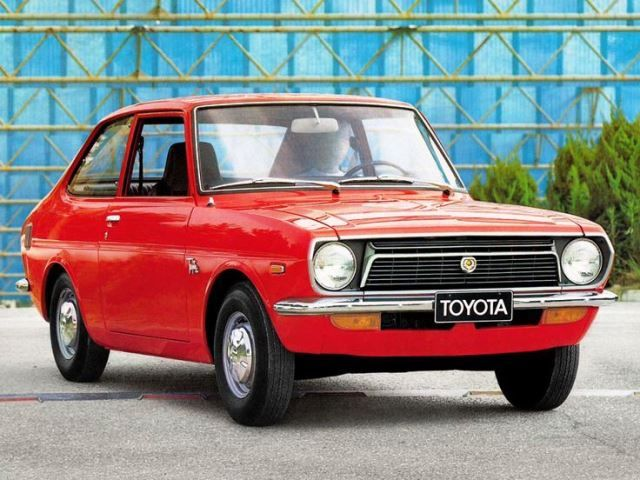 1974 Toyota 1000 3e car.. only in the Color Brown