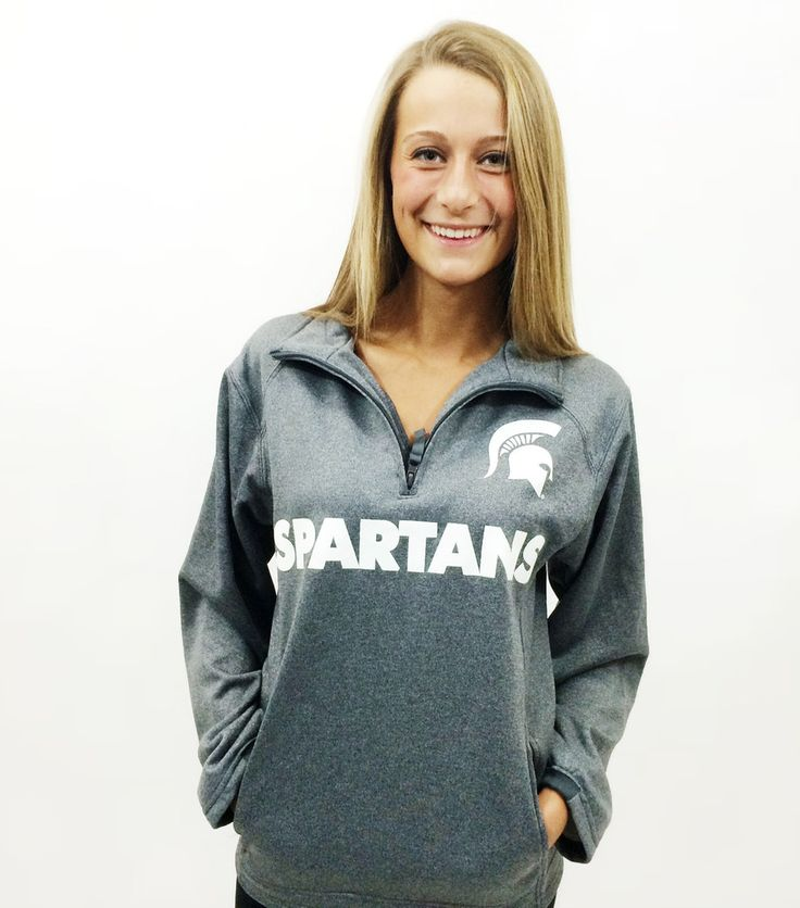 UNISEX - Michigan State Grey 1/4 Zip